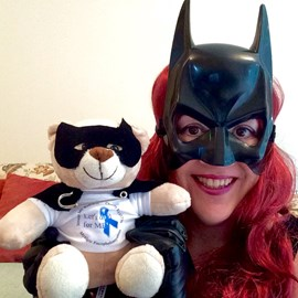 Batgirl with Let's do it for ME bear!