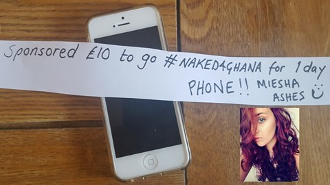 Miesha the phone addict agreed to one day for £10 GO MIESHA!