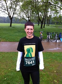 Me before the run - trying to keep warm.