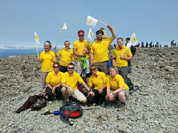 All 9 climbers on top of Ben Nevis