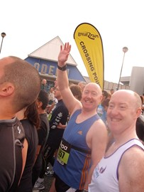 on the start line waiting for the off