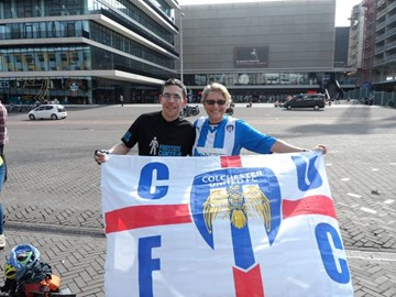 With the cufc flag at Ajax