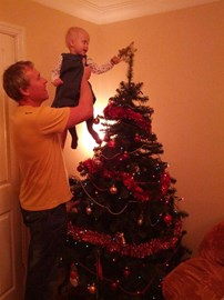 Christmas tradition Anya and dad Graeme