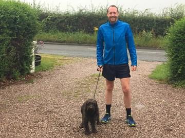 My dedicated marathon training partner 'Humphrey!!'