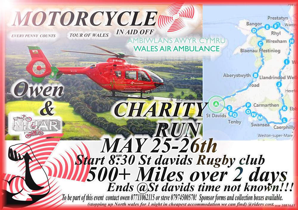 Owen Hughes is fundraising for Wales Air Ambulance