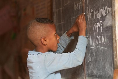From VSO: Ethiopian child at school