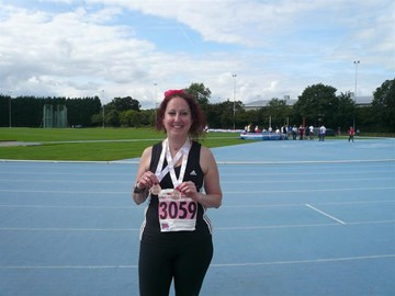 At the Transplant Games '09-with medals!
