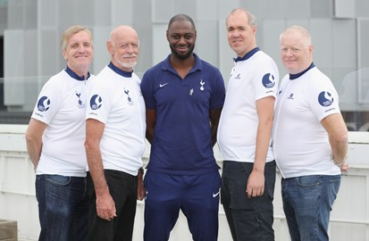 Ledley King thanks the tam for raising £75,000 for PCUK
