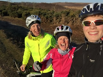 Training rides continue to be chilly  but upping the distance and hills now - with our PT in tow- The  Rormeister