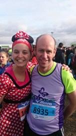 Barry & Sarah run the Reading Half Marathon