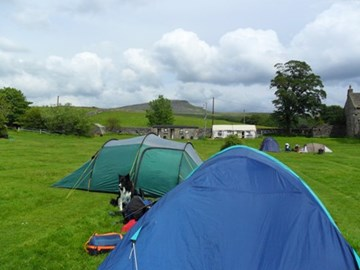Our tents @ campsite look at Pen-y-Ghent