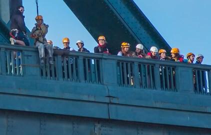 On the bridge!