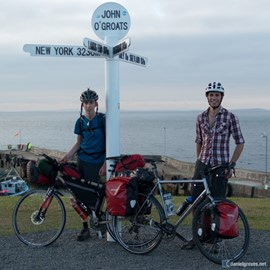 Start of our last John O' Groats to Lands End trip