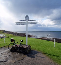 At the Finish John O'Groats 21st August