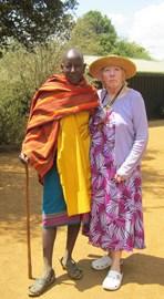 Elizabeth in Kenya. January 2017