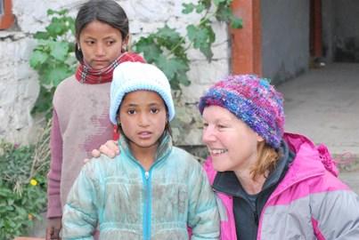 Linda loved the Nepalese children