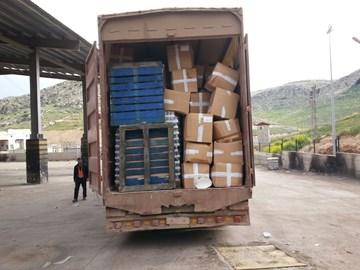 Container arrived to Syria