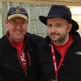 Eric and Ambrose after the 2015 Windsor Walk