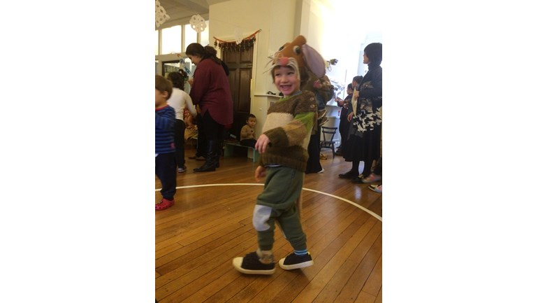 Liam the mouse, Christmas play, nursery school 2016
