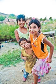 some of the kids in the gypsy village