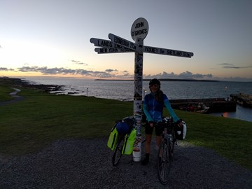 Completing Lands End to John O'Groats, 2016