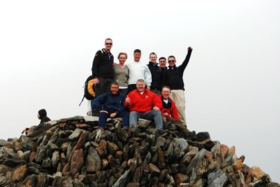 The top of Snowdon - our test run in May