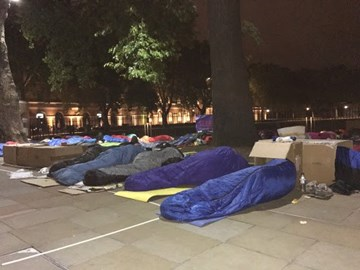 Lights out at the sleepout