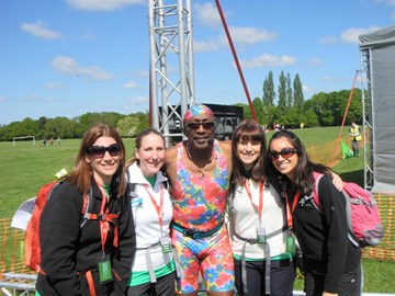 With our honorary member Mr Motivator!