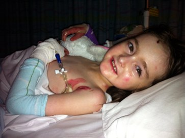 After surgery hollies all smiles after gastrostomy was fitted x