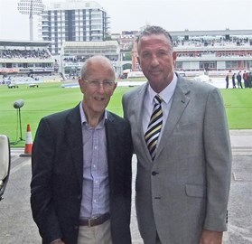 with Sir Ian Botham, Patron of the walk