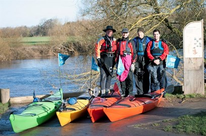 Ready for start off at Ross-on-Wye
