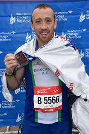 On 7th October I completed my second major in a pb time of 2:58:23 in Chicago. Absolutely delighted.