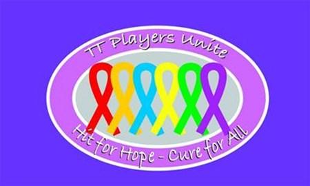 #TTPlayersUnite #HitForHope #CureForAll