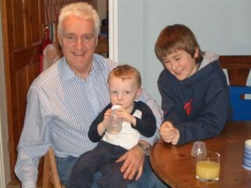 John, baby Adam and teen Simon