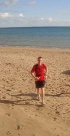 Beach running in Dorset