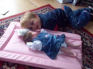 Lara(11 weeks prem) withe her brother