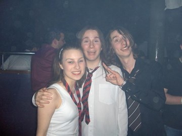 Jo, me and Will on a night out in B'fast