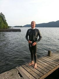 Just getting ready to train at Miller Ground, Lake Windermere!