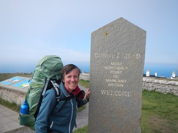 At end of 1395 mile walk south to north of UK