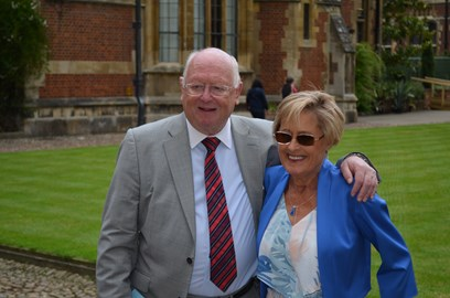 Carol with Professor John Wallwork
