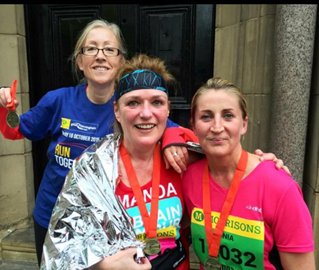At the finish with Run Budz Dawn and Pyp xx