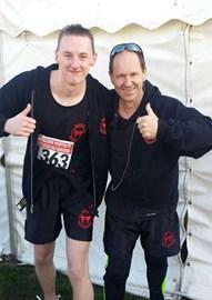 Instructors Chris & Andy run Eastbourne Half