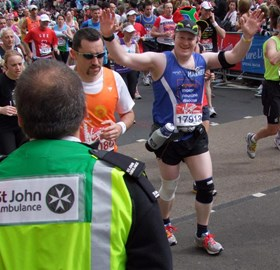 Here I am approaching the 26th mile mark