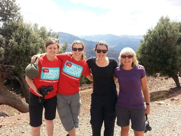 Team Dave looking way too cheerful before the trekking hardship began.