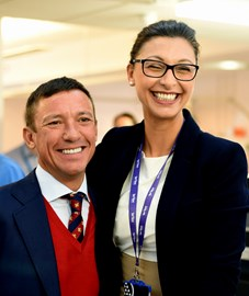 Frankie Dettori and our wonderful consultant Pegah Salahshouri