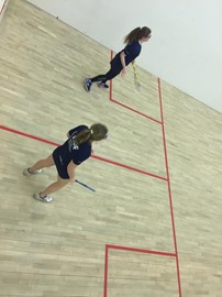 Squash marathon on the way, the first hour and a half has been completed