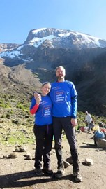 Dave & Philippa at one of the camps en-route during their Kilimanjaro trek, December 2015