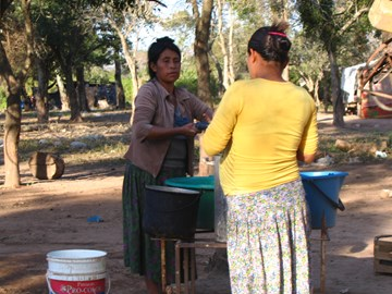 Doing the washing in Hoktek T'oi community