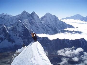 Dramatic Climbing up Ama Dablam