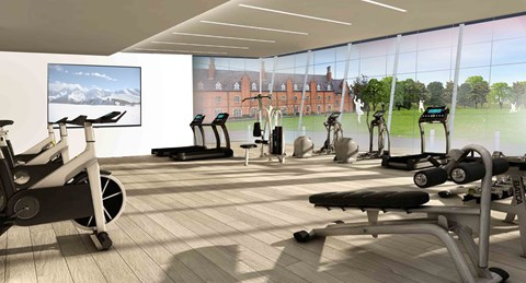 An artist's impression of the new Fitness Suite